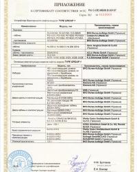 Малые грузовые лифты BKG — сертификат соответствия, стр.3