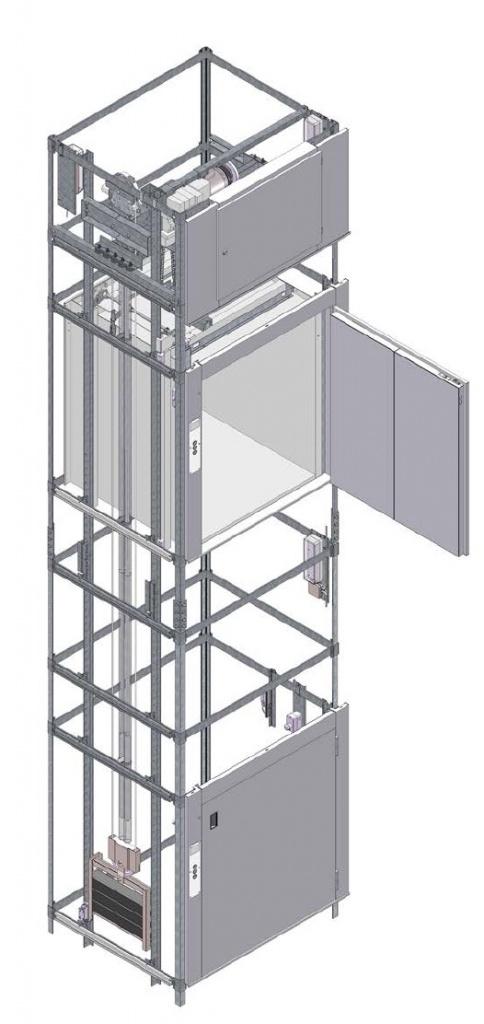 Малый грузовой лифт BKG с остановкой кабины на сервисной
