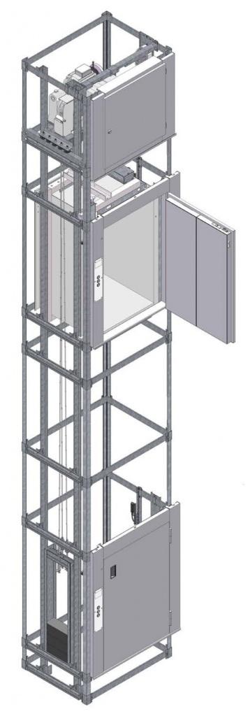 Лифт BKG с остановкой кабины на уровне с полом